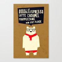 Yeti wants Coffee! Canvas Print