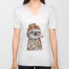 Mr.Sloth Unisex V-Neck