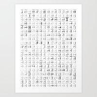 300 Smileys| 300 Fonts Art Print