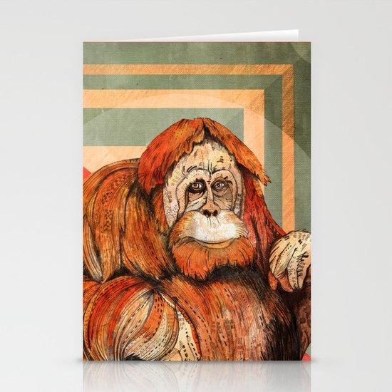 Mr. Orangutan Stationery Card