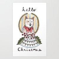 hello christmas Art Print