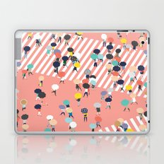 Crossing The Street On a Rainy Day Laptop & iPad Skin