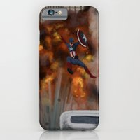 iPhone & iPod Case featuring BOOM! Captain America  by Tella