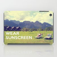 Wear Sunscreen iPad Case