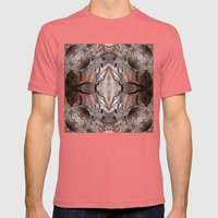 Petrified Wood In Abstra… Mens Fitted Tee Pomegranate SMALL