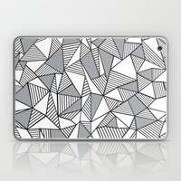 Abstract Lines With Grey… Laptop & iPad Skin