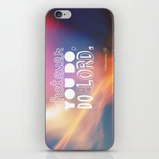 do it for the LORD iPhone & iPod Skin