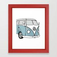 VW Camper Framed Art Print