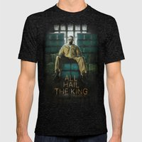 ALL HAIL THE KING Mens Fitted Tee Tri-Black SMALL