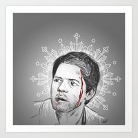 always happy to bleed for the Winchesters Art Print