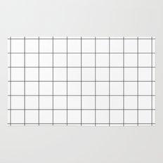 White Grid  /// www.pencilmeinstationery.com Rug