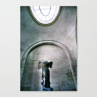 Statue Of Winged V Canvas Print