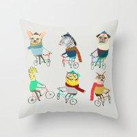 Bikers. Throw Pillow