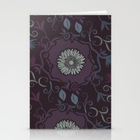 Purple Branches Stationery Cards