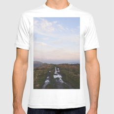 Rushup Edge at sunset. Derbyshire, UK. Mens Fitted Tee SMALL White