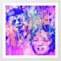 marilyn  and  john  Art Print