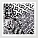 Chaos in Black and White Art Print