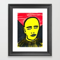 Squinting Framed Art Print