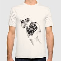 Robot Mens Fitted Tee Natural SMALL