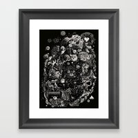 Spark-Eyed Oblivion Casc… Framed Art Print
