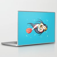 the little mermaid Laptop & iPad Skins featuring Mermaid by Freeminds