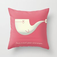 Pipe Whale Throw Pillow