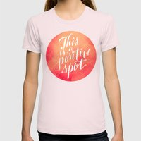 Positive Womens Fitted Tee Light Pink SMALL