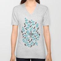 Birdie Bird Blue Unisex V-Neck