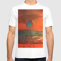 Red Sky At Night Mens Fitted Tee White SMALL