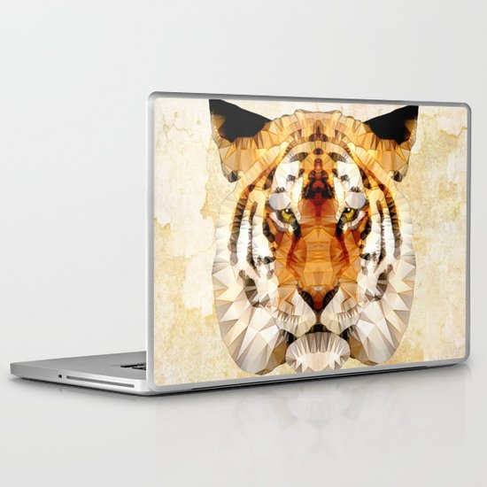 abstract tiger Laptop & iPad Skin