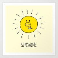 Sunswine Art Print