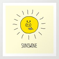 Sunswine Art Print