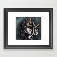 a cubistic me Framed Art Print