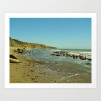 Bowling Ball Beach IV Art Print