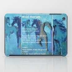 Wild Horses: Poem and Painting iPad Case