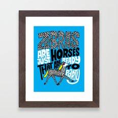 Party Horses Framed Art Print