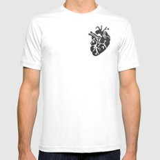 Only Love SMALL Mens Fitted Tee White