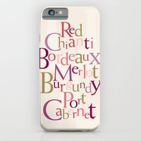 iPhone & iPod Case featuring red wine words by anastasia5