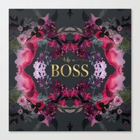 LIKE A BOSS  Canvas Print