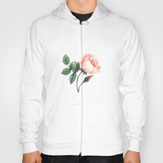 Illustration with watercolor rose Hoody