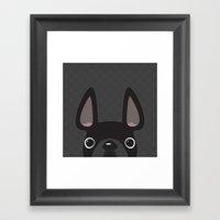 Black On Black Pattern Framed Art Print
