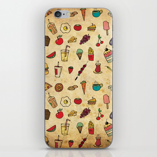 Food Love Pattern iPhone & iPod Skin