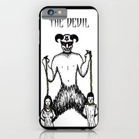 iPhone & iPod Case featuring The Devil Tarot by EVOL