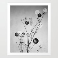 Abstract Flowers 3 Art Print