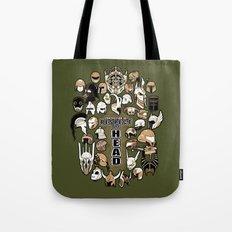 Helmets of fandom - respect the head! Tote Bag