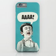 iPhone & iPod Case featuring AAAA! (Blue) by Dr. Lukas Brezak