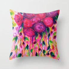 ROSES ARE RAD 2- Bold Pi… Throw Pillow