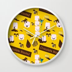 Chocolate Wasted (yellow) Wall Clock