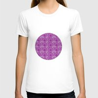 Circular Wave Womens Fitted Tee White SMALL