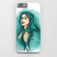 iPhone & iPod Case featuring The turquoise fairy by Tella